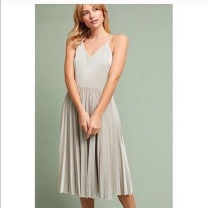 Anthropologie Dresses - Anthropology silver dress